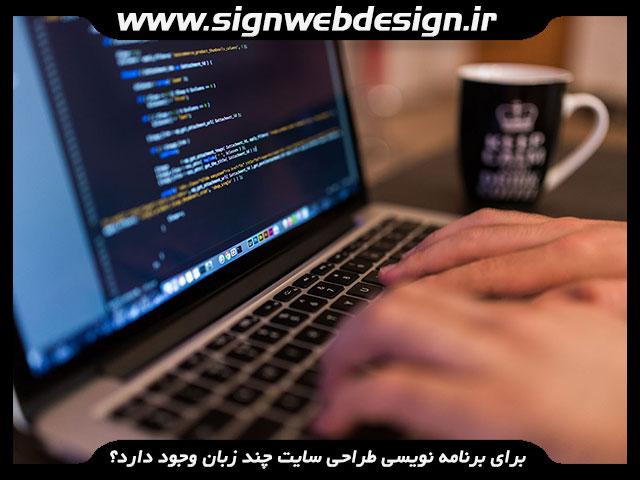 برنامه نویسی طراحی سایت